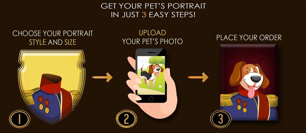 Custom pet portraits for cats and dogs