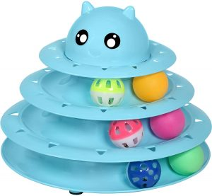 UPSKY Cat Toy Roller Cat Toys 3 Level